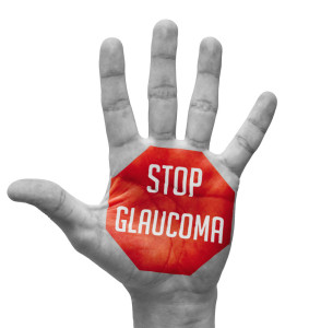 Stop Glaucoma Texts on Pale Bare Hand
